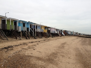 Beach huts on the Southend seafront