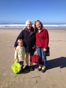 Mum with me and Matilda