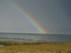 Rainbow off the Long Beach Peninsula