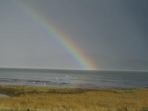 Rainbow off the Long Beach Peninsula