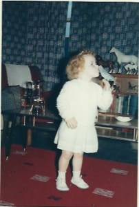 The author as a little girl