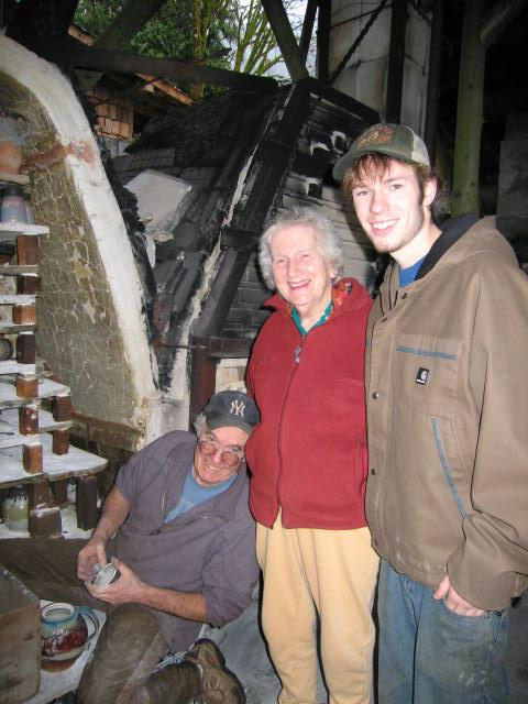 Mum, Reed & S at kiln