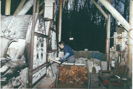 Stoking the kiln